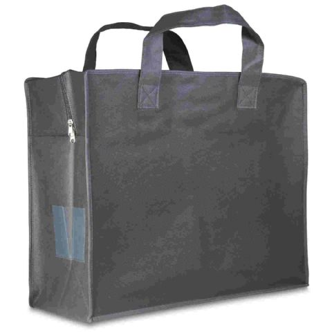 Grey Clothes Storage Bag & Laundry Carrier